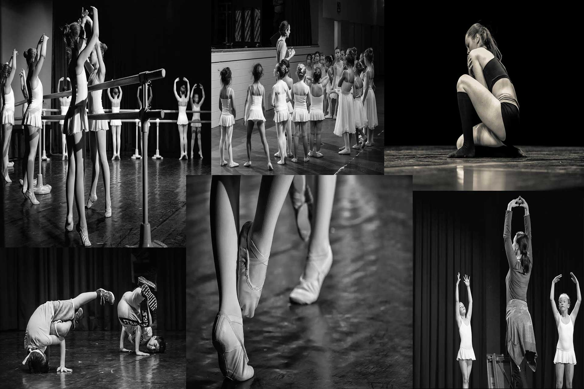 Collage photos danse elance